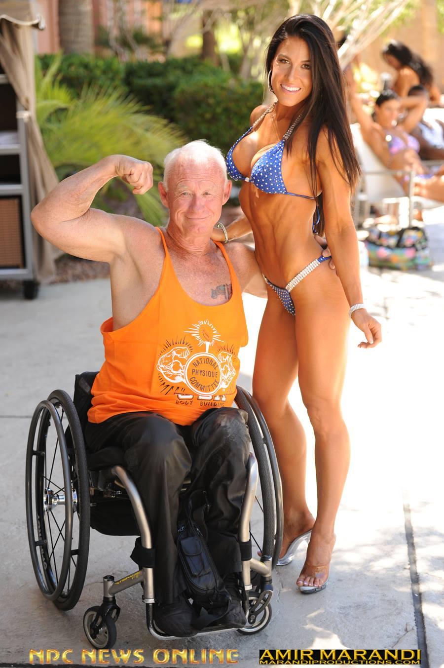 Jack McCann and a bikini competitor